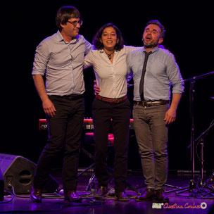 Soirée cabaret JAZZ360, avec Akoda Trio (Benjamin Pellier, Valérie Chane-Tef,  Franck Leymerégie), salle culturelle de Cénac, le samedi 18 mars 2018. Photographe : Christian Coulais