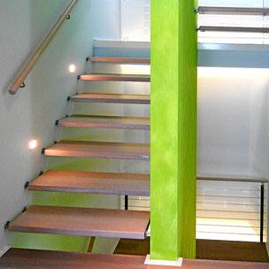 Sanierung Treppe mit Bucher Treppen Modell DESIGN