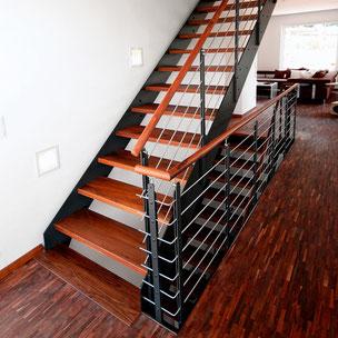 Renovierung Treppe Holz Metall mit Bucher Treppen Modell LOFT