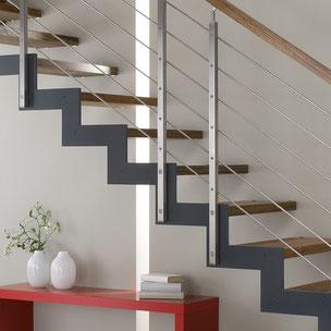 Renovierung Treppe Holz Metall mit Bucher Treppen Modell FERRO