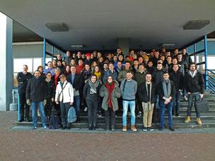 Dozierende und Studierende aus Bordeaux und WIlhelmshaven zusammen an der deutschen Nordseeküste. (Foto: Patrick Klapetz)