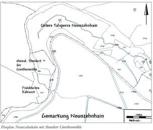 Bild: Lageplan Günter-Mühle Neunzehnhain