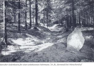 Bild: Fuhrmannsstein Wünschendorf um 1960
