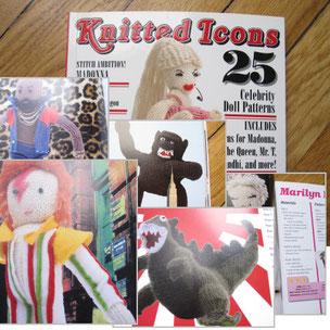 """Ein Fest für Freunde der Stricknadel: Carol Meldrums """"Knitted Icons"""""""