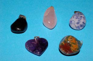 Tourmaline ; Quartz Rose ; Sodalite ; Améthyste ; Jaspe