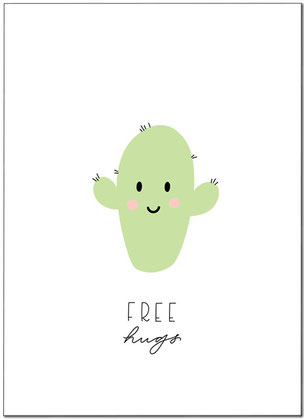 FREE HUGS PRINT KINDERZIMMER FREEBIE FREEDOWNLOAD