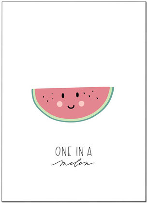 ONE IN A MELON, MELON, MELONE, PRINT, KINDERZIMMER, FREEBIE, FREEDOWNLOAD,