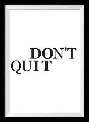 Typografie Poster, Typografie Print, Motivation, don't quit