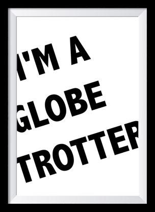 Typografie Poster, Typografie Print, Reisen, Globetrotter