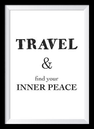 Typografie Poster, Typografie Print, Reisen, Inner Peace