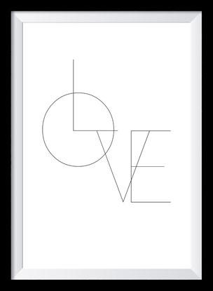 Typografie Poster Liebe, Love Design