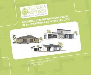 3 styles de maisons: maison bois, maison traditionnelle plain pied, maison moderne à étage