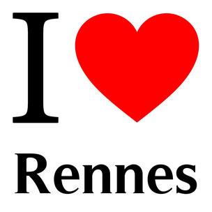 j'aime rennes écrit avec un coeur rouge