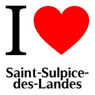 j'aime saint sulpice des landes écrit avec un coeur rouge