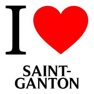 j'aime saint ganton écrit avec un coeur rouge