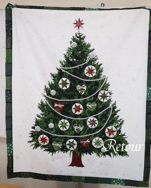 パッチワーク教室ルトゥール クリスマスツリー布合わせ