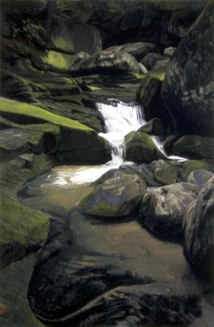 francois beaudry pastel et aquarelle peinture tableau paysage foetus série via appalachia 8
