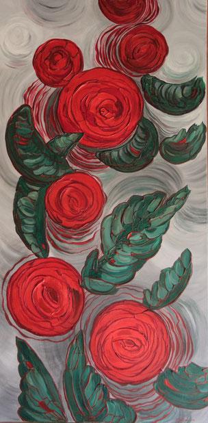 Farbimpulse - Acryl auf Leinwand - 50x100cm