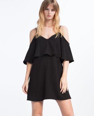 robe épaules dénudées Zara