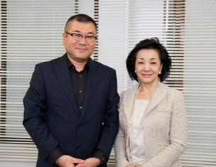 戦略PRの片岡英彦事務所代表片岡英彦と櫻井よしこ