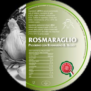 pecorino maremma new taste sheep sheep's cheese dairy caseificio tuscany tuscan spadi follonica label italian origin milk italy matured aged flavored flavor aromatic rosemary garlic rosmaraglio rosmarino aglio