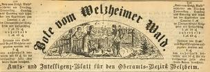 Der Bote vom Welzheimer Wald. Amts- und Intelligenzblatt für den Oberamtsbezirk Welzheim. 1868-1900.