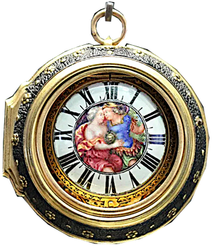 Montre émaillée ronde signée Olard, Jean-Pierre Huaut, Gex et Genève, fin du XVIIe siècle