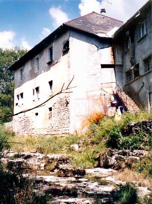 Environ d'Hauteville (Ain) - Au Léchay ou Moulin Miguet - diamanterie et scierie