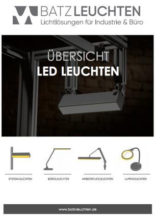 Produktflyer LED Leuchten BATZ LEUCHTSYSTEME
