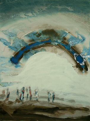 ohne Titel -  Gouache/Acryl auf Papier, 1999 (80x60)