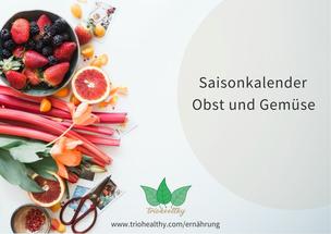 Saisonkalender Obst und Gemüse