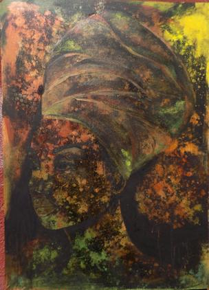 Porträt Kopf Malerei, Portrait Modern , abstrakt Acryl , Angelika Haßenpflug, Auftragsarbeit, Künstlerin