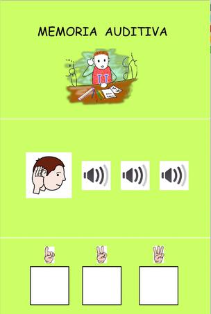 COLOCA LOR OBJETOS (Memoria auditiva)