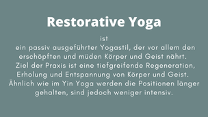 Restorative Yoga neu in Wiesbaden