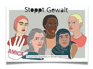 "Postkarte ""Stoppt Gewalt"""