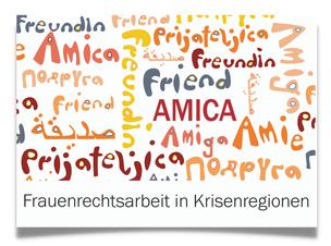 "Postkarte ""Freundin"""