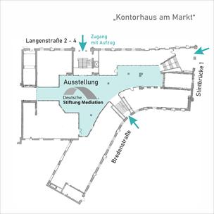 Lageplan zur Wanderausstellung Deutsche Stiftung Mediation