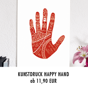 Kunstdruck Happy Hand