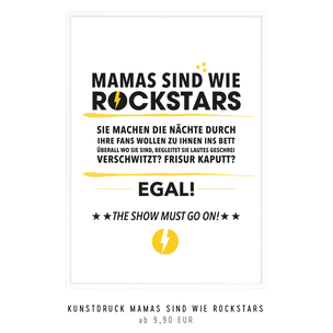 "Kunstdruck ""Mamas sind wie Rockstars"""