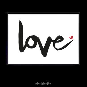 """Kunstdruck """"love"""""""