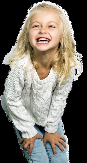 Kind lacht und erzählt was die Albert- Schweitzer- Gemeinschaftsgrundschule in Geldern alles leistet