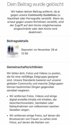 ba3f5b5c8 Da löscht Instagram einen Beitrag vom realpostillon (so heißt der Postillon  auf Zuckerbergs Selbstdarstellungs-Netzwerk) und zwar ohne, dass das mit  uns ...