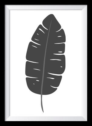 Schwarz-weiß Illustration - Blatt - nonoyes