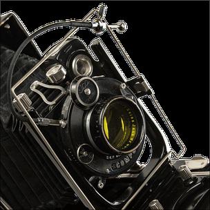 Icatrona 210 mit Drahtauslöser, Grossformatkamera 9x12 cm, Foto: Dr. Klaus Schörner