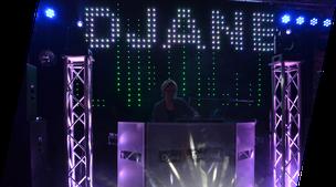 DJane Feelgood, Musikpult und Aufbaubeispiel von Silvia Lange