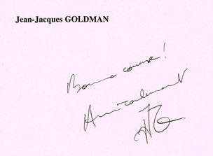 Jean Jacques GOLDMAN souhaite une bonne course à LMC France