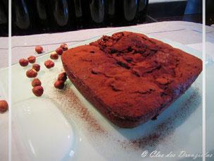Coulant chocolat aux noisettes façon brownie