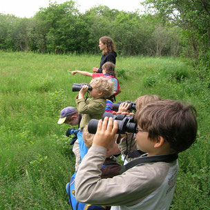 Kinder entdecken das Wollmatinger Ried - Foto: NABU/N. Haller
