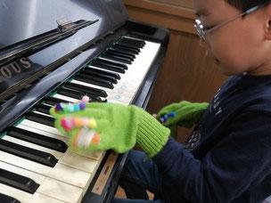 どれみ音楽教室 ピアノ 5本指の独立 あおむしくん