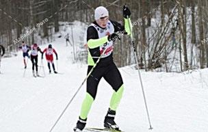 Андрей Гарамов на лыжной трассе